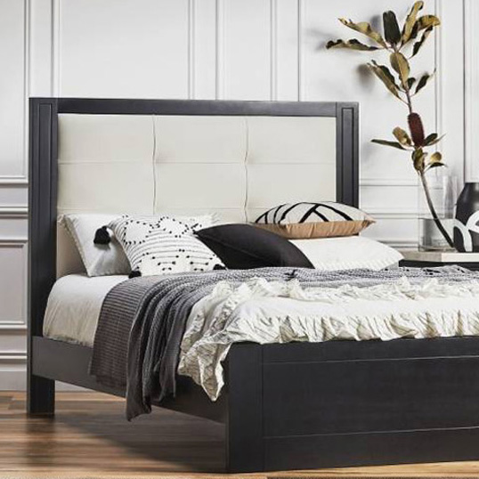 Silver Lynx Beds at DOMAYNE Montauk design with upholstered bed frame