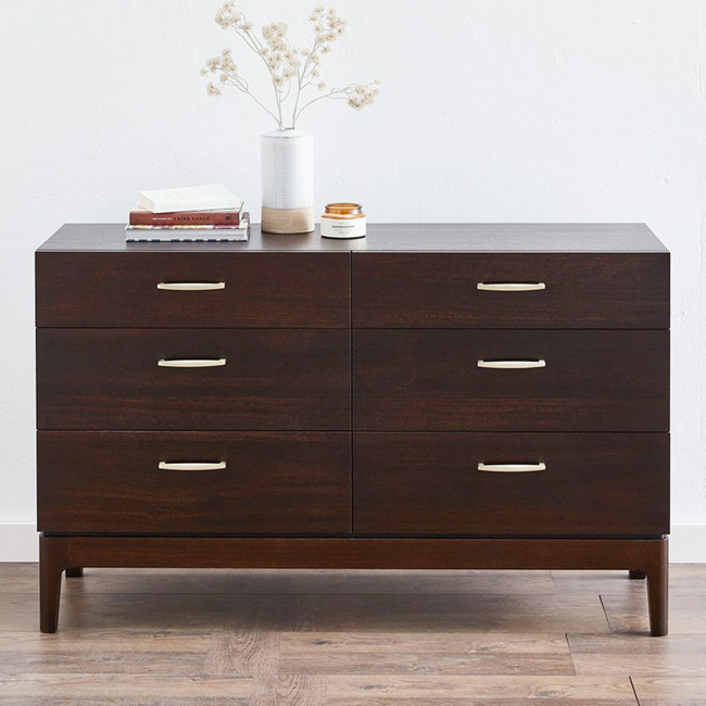 Silver Lynx Ezra collection Chest Chocolate finish