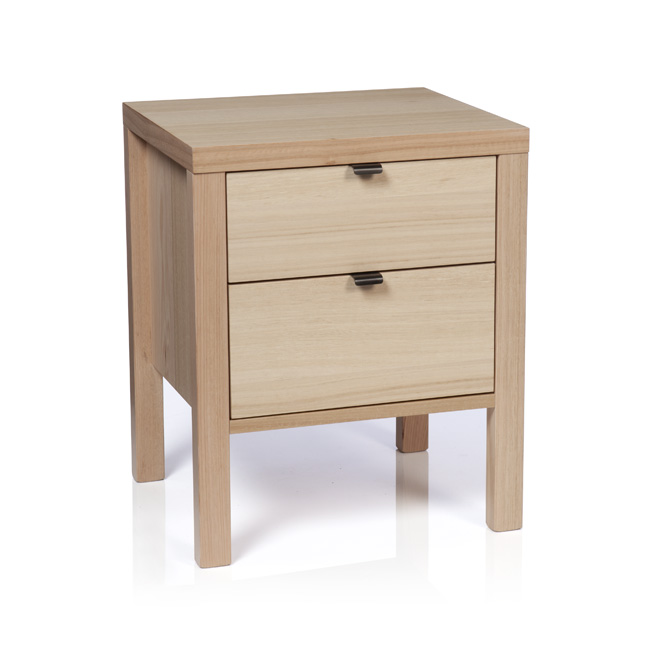 Silver Lynx city x collection bedside table snow finish