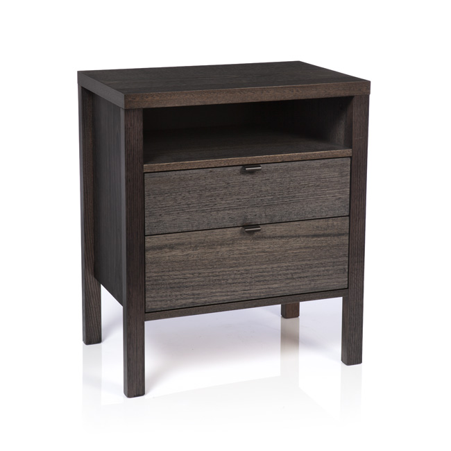 Silver Lynx city x collection charcoal finish bedside table