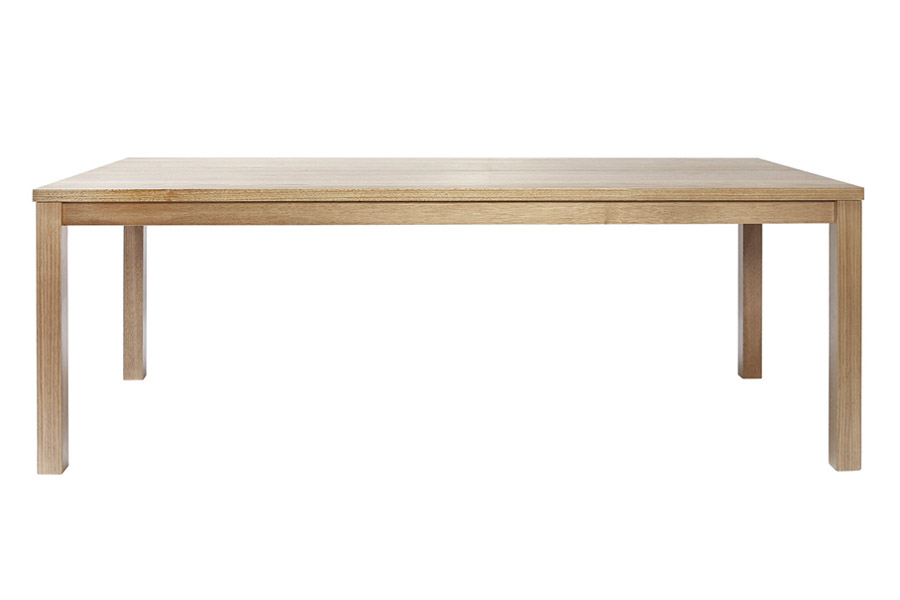 Silver Lynx Commercial table natural finish side view