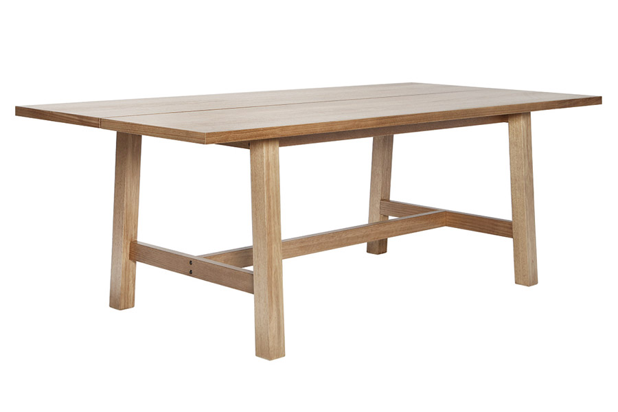 Silver Lynx Commercial table natural finish 3qtr view