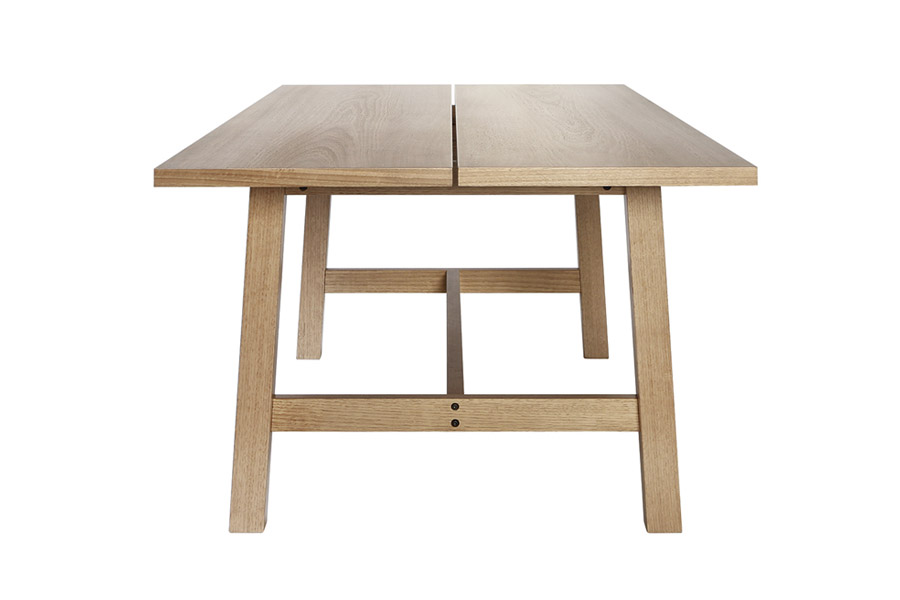 Silver Lynx Commercial table natural finish front on view